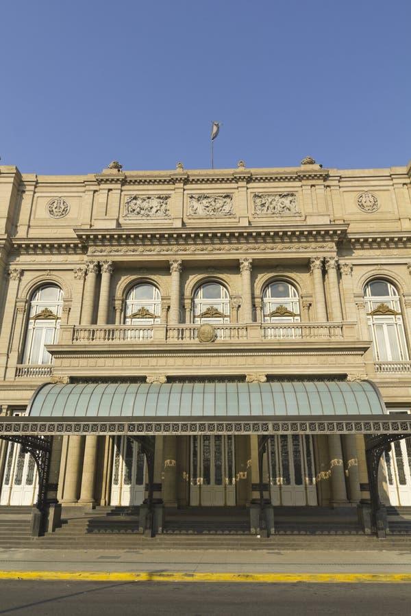 Colon Theatre, Buenos Aires, Argentina. Colon Theatre facade at Buenos Aires, Argentina stock image
