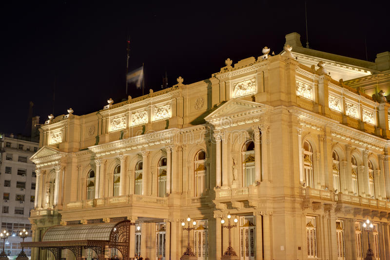 Colon Theatre in Buenos Aires, Argentina. royalty free stock photos