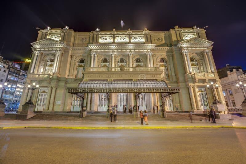 Colon Theatre in Buenos Aires, Argentina. Colon Theatre facade on 9 de julio Avenue in Buenos Aires, Argentina stock photos