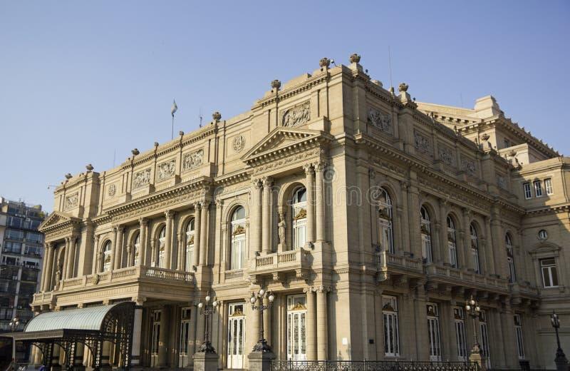 Colon Theatre, Buenos Aires, Argentina. Colon Theatre facade on 9 de julio Avenue at Buenos Aires, Argentina stock photography