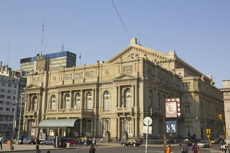 Colon Theatre, Buenos Aires, Argentina. BUENOS AIRES - SEP 11: Colon Theatre on October 1, 2012 in Buenos Aires, Argentina. This Opera House is considered one of stock photography