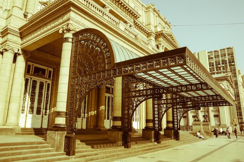 Colon Theatre, Buenos Aires, Argentina. Vintage and yesteryear royalty free stock image