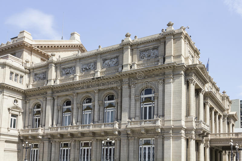 Colon theatre in Buenos Aires stock image