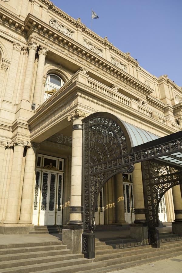 Colon Theatre, the Opera House of Buenos Aires, Argentina. Columbus Theatre facade on 9 de julio Avenue at Buenos Aires, Argentina stock images