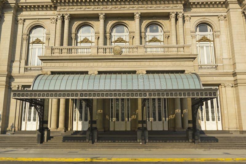 Colon Theatre, the Opera House of Buenos Aires, Argentina. Colon Theatre facade on 9 de julio Avenue at Buenos Aires, Argentina stock images