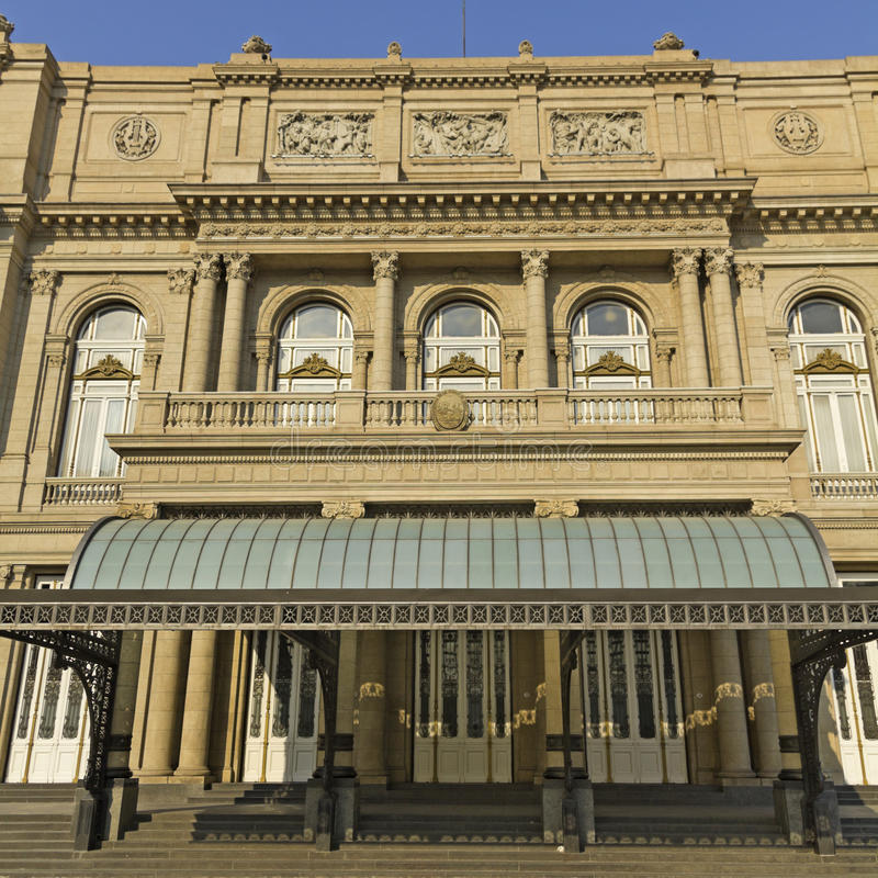 Colon Theatre, the Opera House of Buenos Aires, Argentina. royalty free stock photos