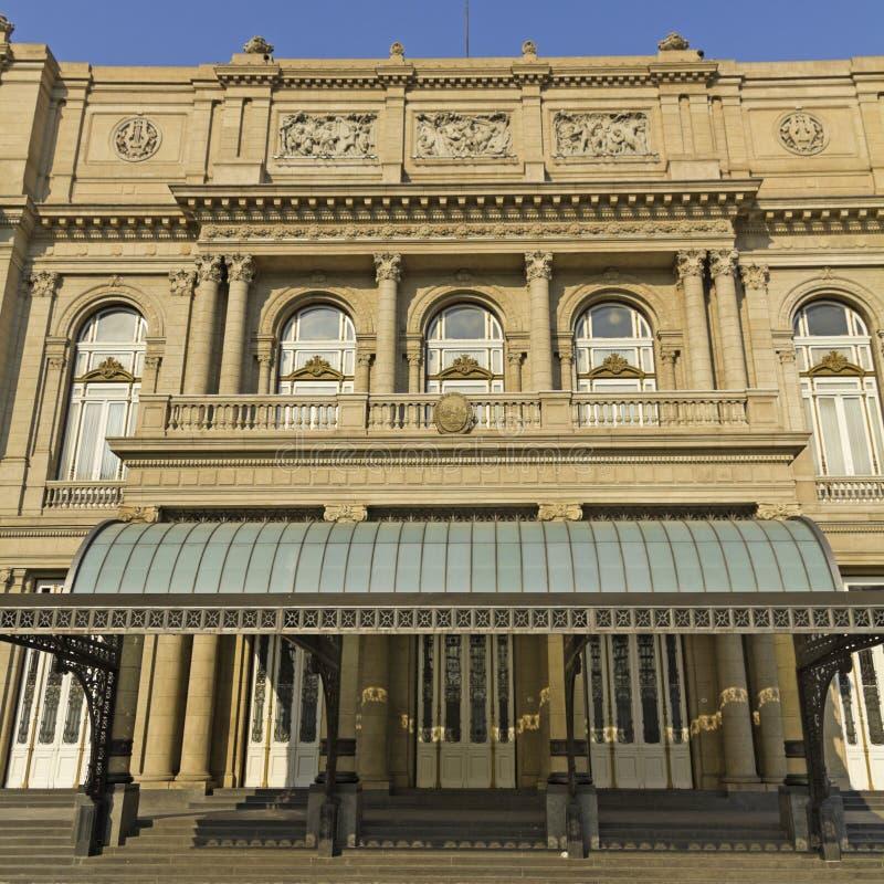 Colon Theatre, the Opera House of Buenos Aires, Argentina. Colon Theatre facade on 9 de julio Avenue at Buenos Aires, Argentina royalty free stock photos