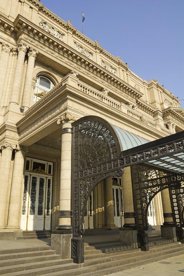 Colon Theatre, the Opera House of Buenos Aires, Argentina. Colon Theatre facade on 9 de julio Avenue at Buenos Aires, Argentina stock photo