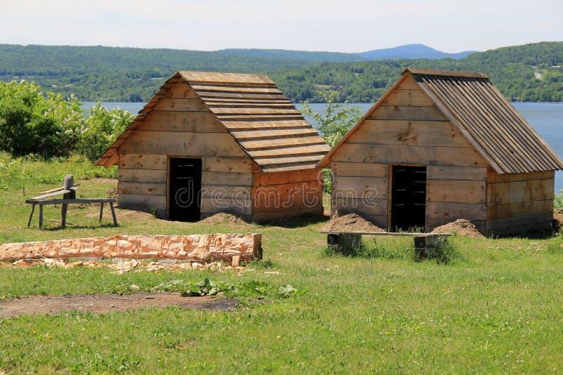 Colonel Anthony Wayne a publié des ordres pour commencer à construire un meilleur logement pour abriter les hommes du régiment, f images stock
