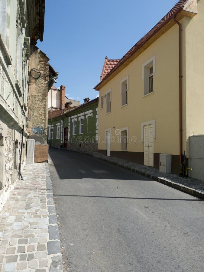 Colonel Ion Buzoianu street in Brasov, Romania royalty free stock photo
