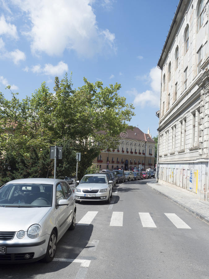 Colonel Ion Buzoianu street in Brasov, Romania royalty free stock image