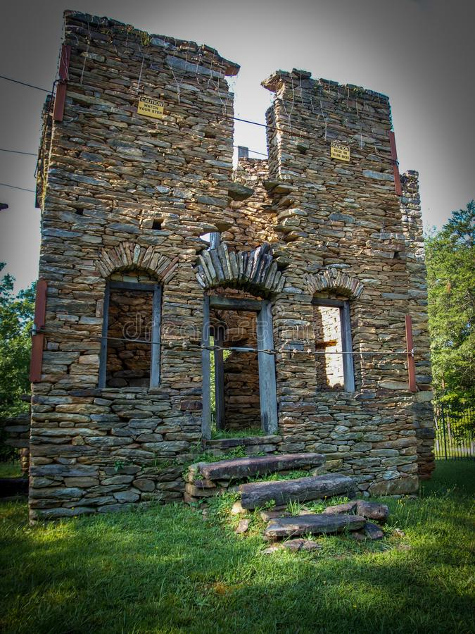 Colonel John Martin Rock House. Built around 1785, the Rock House, also known as the John Martin House, is a historic home located near King, Stokes County stock images
