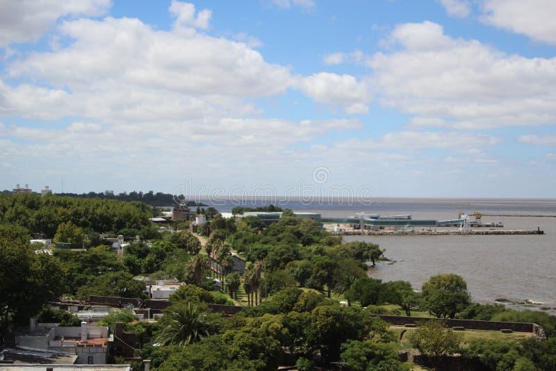 Colonia, de oude straat van Uruguay royalty-vrije stock foto's