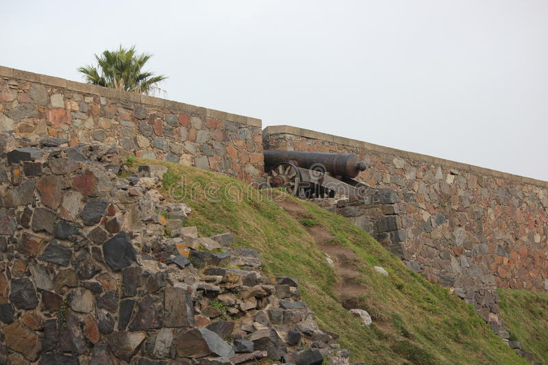 Colonia Fort ruins royalty free stock photography