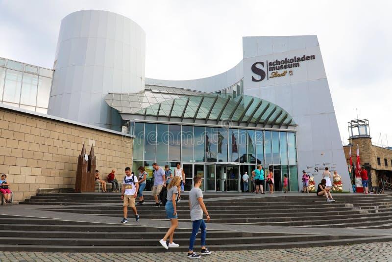 COLONIA, GERMANIA - 31 MAGGIO 2018: Museo di Schokoladen, museo famoso da Lindt in Colonia, Germania del cioccolato fotografie stock