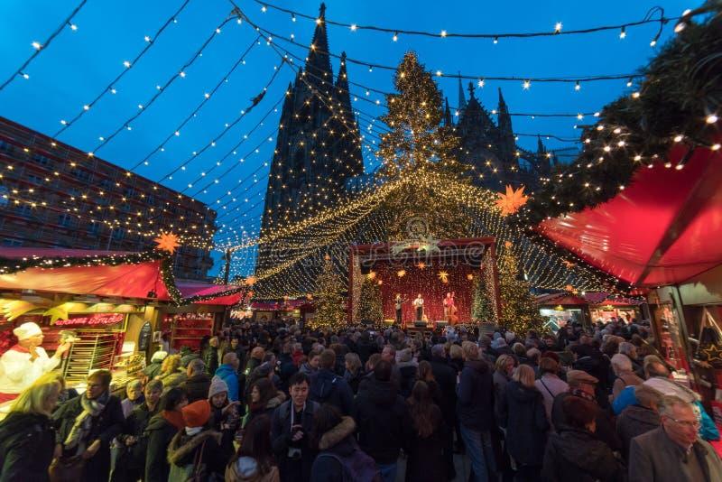 Colonia - mercato di Natale immagini stock