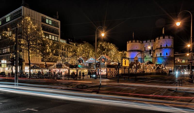 Colonia, mercato di Natale fotografia stock libera da diritti