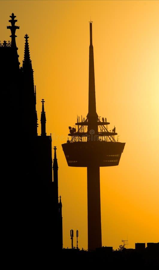 Colonia, torre de radio y dom fotos de archivo libres de regalías