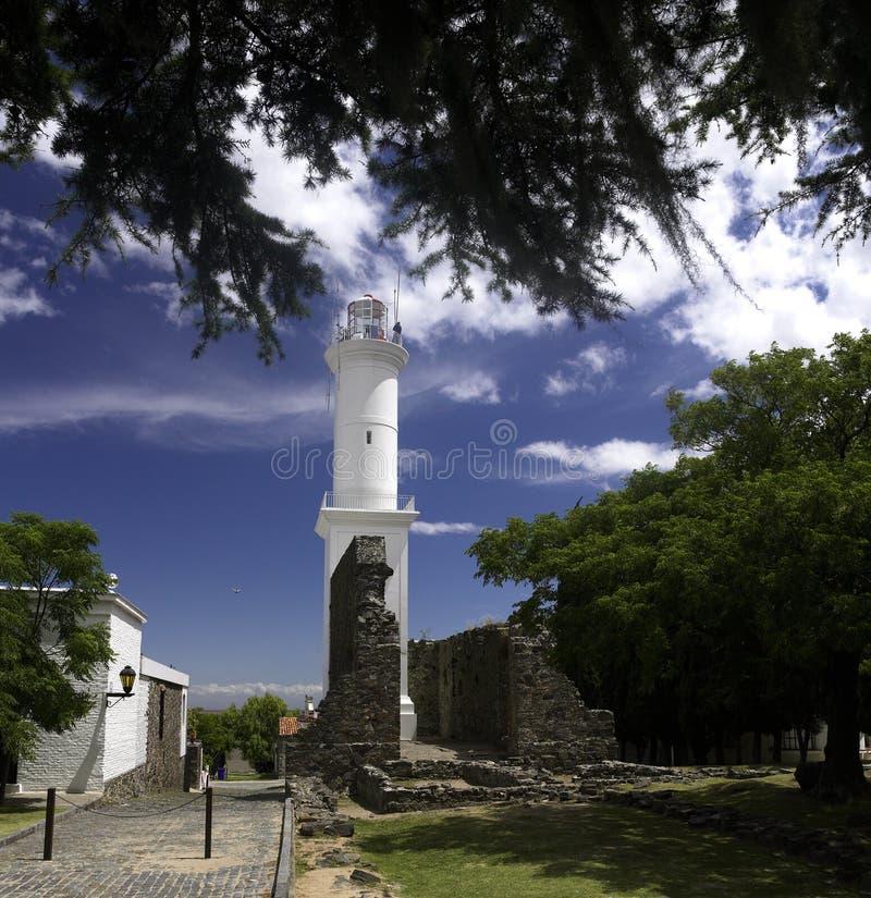coloniafyr uruguay arkivbilder