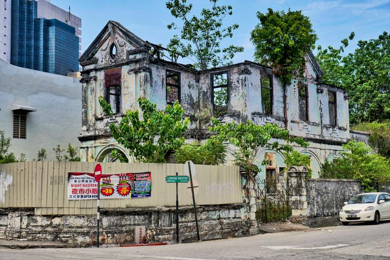 An abandoned colonial house in Georgetown, Malaysia stock photography