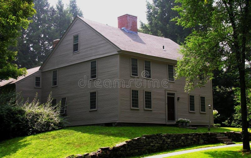 Colonial adiantado de Nova Inglaterra fotos de stock