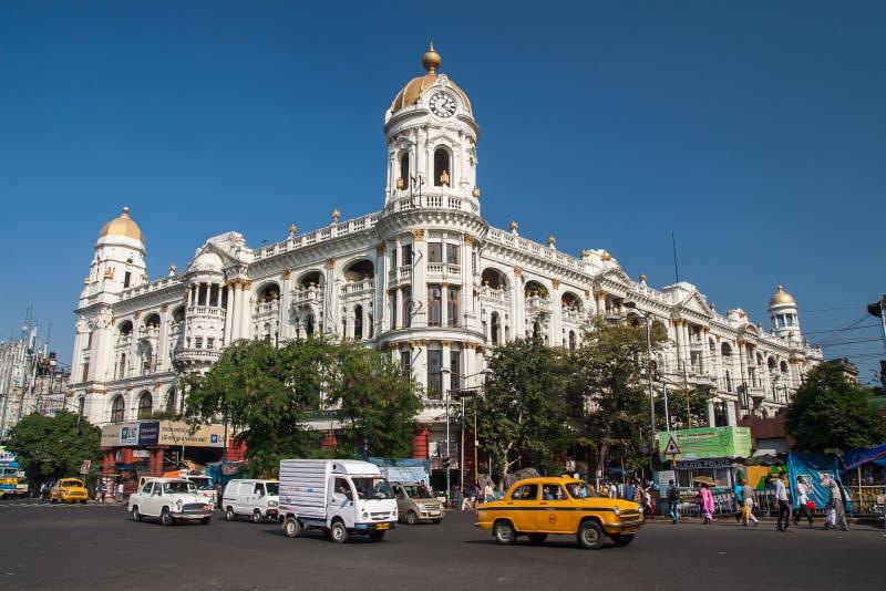 Colonial architecture of Calcutta stock photo