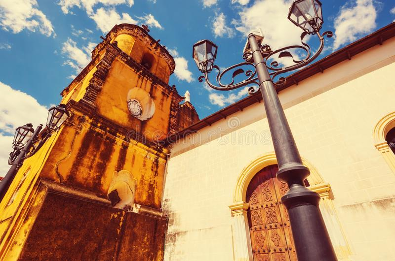 Leon. Colonial architecture in Leon city, Nicaragua royalty free stock photos