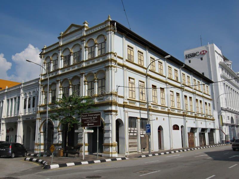 S.P.H. De Silva Building At Ipoh Oldtown. The S.P.H. De Silva building at Ipoh Oldtown, located at the junction of Jalan Sultan Yusof and Jalan Dato Maharaja stock photos