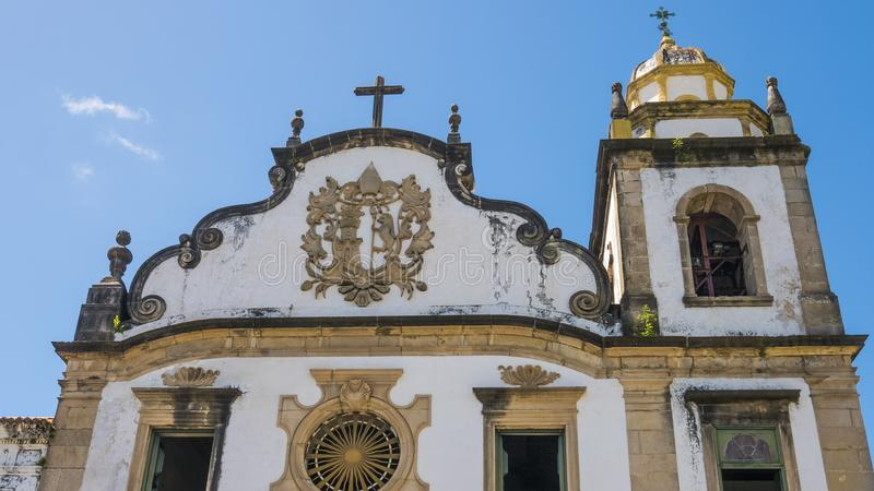 Colonial Churc. Olinda in Pernambuco, Brazil is a historic city full of colonial building decorated with pure gold stock photos