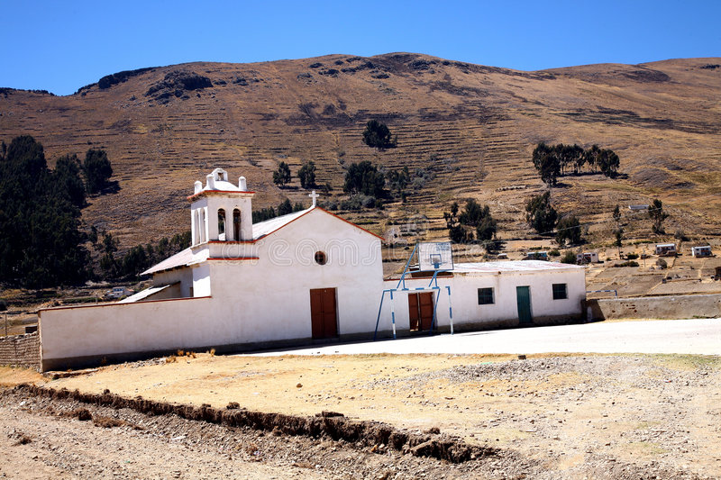 Colonial Church, Bolivia stock image