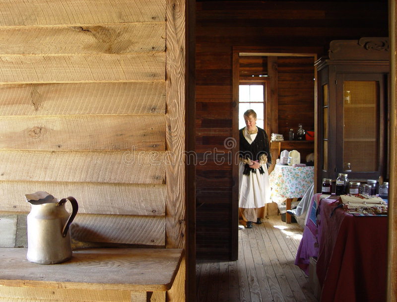 Download Colonial Days stock photo. Image of landmark, cabin, chalet - 584