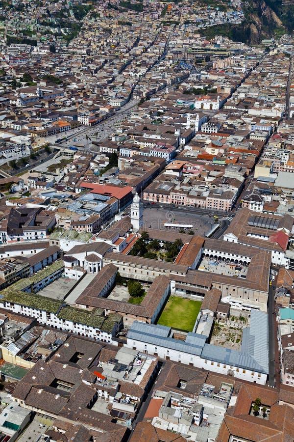 Colonial de Quito, cuadrado de Santo Domingo fotos de archivo libres de regalías