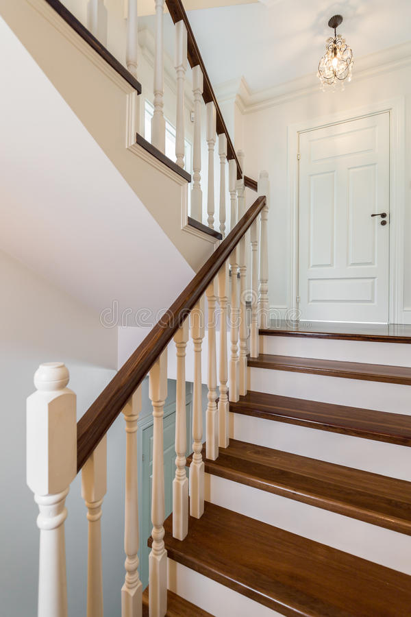Colonial designed staircase stock images