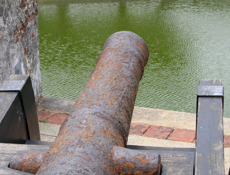 Download Colonial Era Bronze Canon Royalty Free Stock Image - Image: 96016