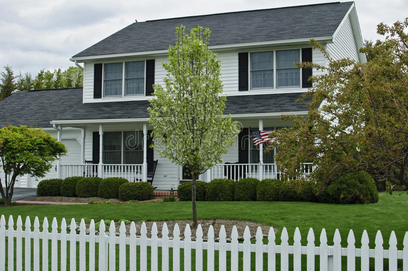 Colonial Home stock image Image of traditional porch 40868945
