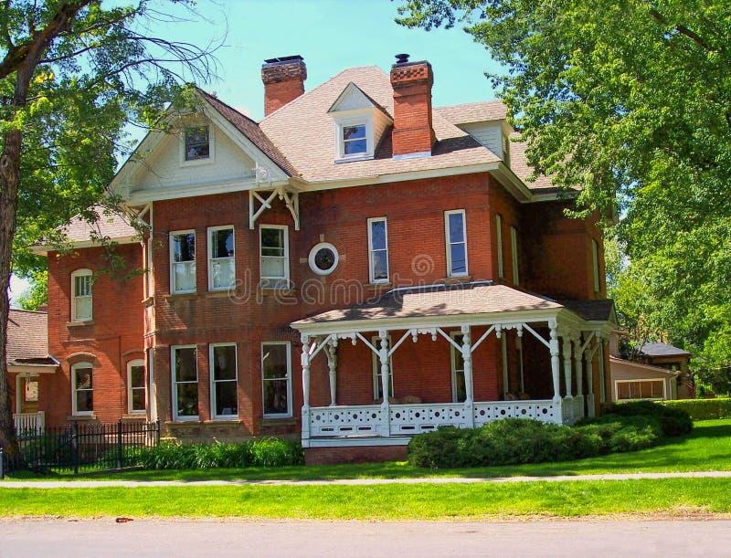 Colonial house. A big colonial house in Durango, Colorado stock photo