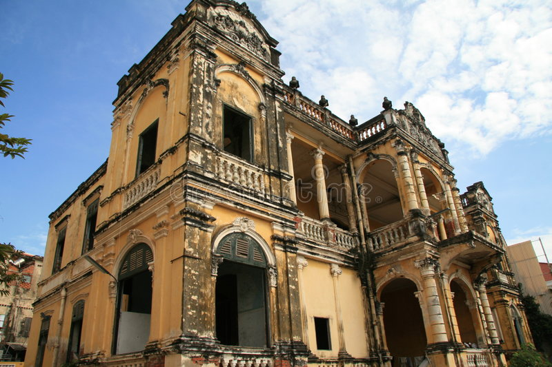 Colonial house in Phnom Penh royalty free stock images