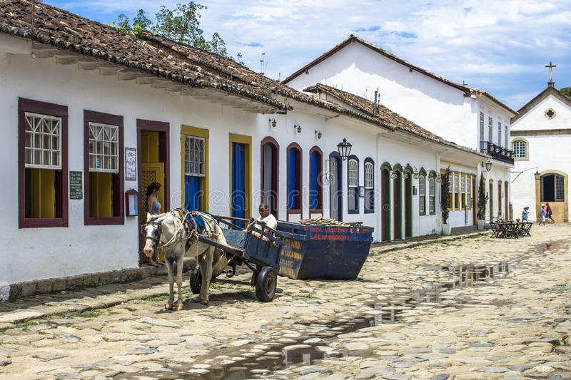 Colonial Houses in historic village of Paraty royalty free stock photos
