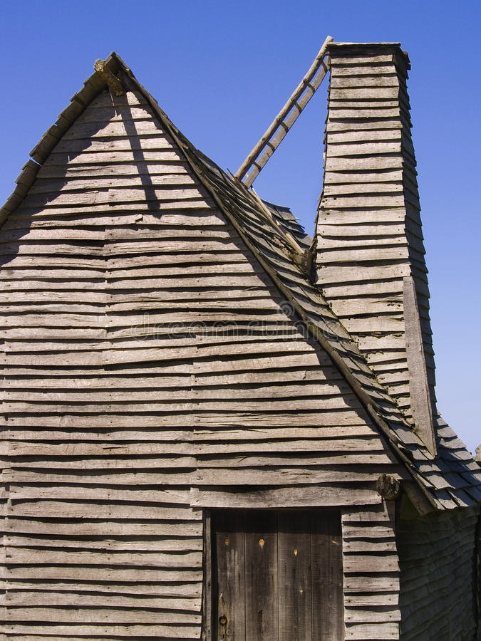 Colonial Hut stock photography