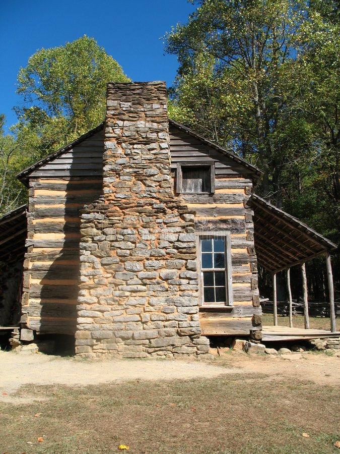 Colonial log cabin stock photo image of aged cabin for Colonial log homes