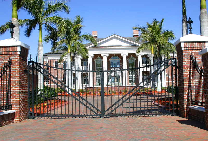 Colonial Mansion royalty free stock photo