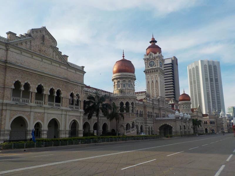 Merdeka Square. The nightmare city- Kuala Lumpur, Malaysia. royalty free stock images