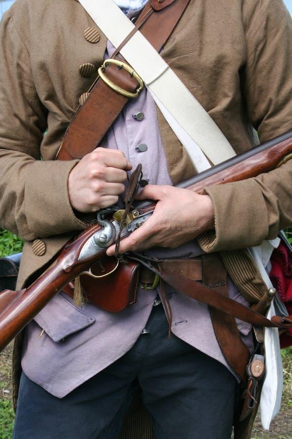 Colonial Militiaman stock images