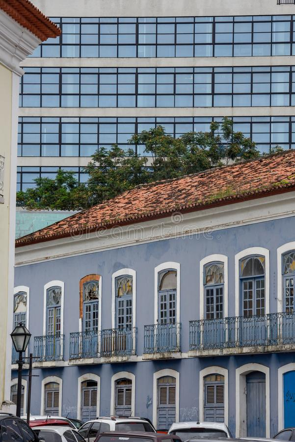Colonial and modern architecture in Sao Luis, Brazil. Colonial and modern architecture in Sao Luis on Brazil stock photography