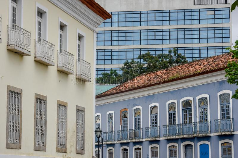 Colonial and modern architecture in Sao Luis, Brazil. Colonial and modern architecture in Sao Luis on Brazil stock images