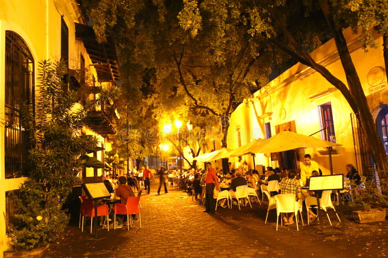 Colonial quarter restaurant. One of typical restaurants in Santo Domingo, Dominican Republic stock photography
