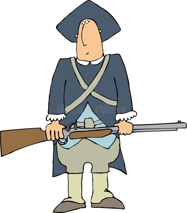 Colonial Soldier stock illustration