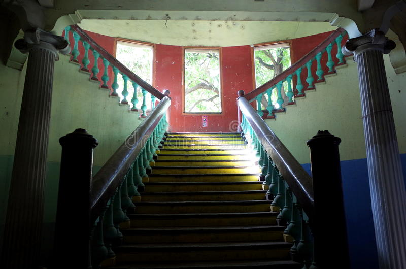 Colonial staircase royalty free stock photo
