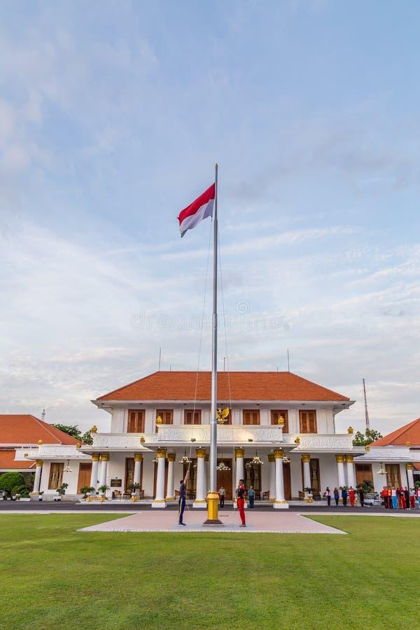 Colonial state building In Surabya, Inodnesia. Gedung Negara Grahadi building in Surabaya, East Java , Indonesia stock photos