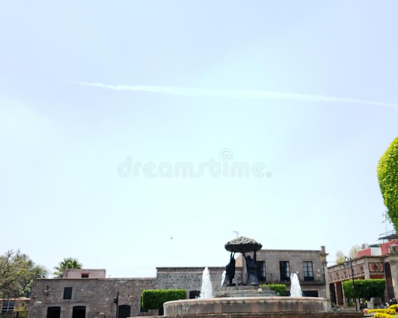 colonial style architecture in the city of Morelia, Mexico royalty free stock photography